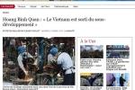 Báo Pháp nêu bật thành tựu trong chiến lược phát triển của Việt Nam