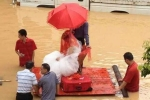 Ảnh: 'Đám cưới lũ lụt' ở Trung Quốc