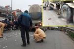 Đôi nam nữ đi xe máy bị xe bồn cuốn vào gầm thiệt mạng ở Hà Nội