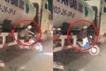 Clip: Hàng loạt xe máy liều chết chui gầm xe bồn để thoát tắc đường