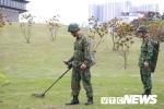 Ảnh: Công binh kiểm tra an ninh, dò mìn ở 2 khách sạn từng đón Tổng thống Mỹ tại Hà Nội