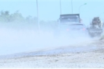 Video: Cận cảnh con đường nát như tương do xe tải cày phá giữa thủ đô