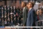Clip: Lính Mỹ ngất xỉu trong lễ từ biệt của Tổng thống Obama