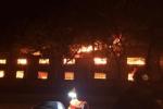 Lửa bùng phát thiêu rụi 4 khu nhà xưởng tại công ty may ở Vĩnh Phúc