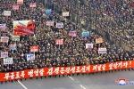Ảnh: Biển người ở Bình Nhưỡng tuần hành khẳng định quyết tâm trong năm 2018