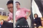 Phẫn nộ khi hiệu trưởng đứng lên bàn, chửi học viên tục tĩu