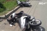 Ôtô đâm liên hoàn xe máy ở TP.HCM
