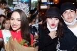 Đông Nhi, Hương Giang và loạt sao Việt bị fan vây kín tại sân bay