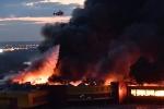 Video: Hỏa hoạn khủng khiếp ở chợ ngoại ô Matxcơva, hàng nghìn người sơ tán