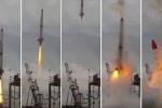 Video: Tên lửa rơi ngược trở lại bệ phóng rồi phát nổ khủng khiếp tại Nhật Bản