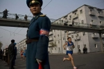 Ảnh hiếm về cuộc thi marathon của Triều Tiên