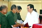 Video: Nguyên Chủ tịch nước Trương Tấn Sang trao 276 căn nhà tặng cựu binh Vị Xuyên