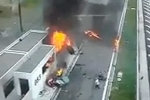 Thiếu gia phóng siêu xe bạt mạng trên cao tốc, đâm nổ tung ô tô đỗ ven đường