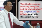Tăng thuế VAT lên 12%: 'Người nghèo không bị ảnh hưởng'