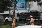 Đoàn xe chở trang thiết bị phục vụ Tổng thống Mỹ tiếp tục đổ bộ khách sạn Marriott
