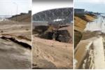 Mưa lớn, khu vực quanh sân vận động World Cup tại Volgograd bị sạt lở