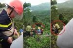 Clip: Chăng dây giải cứu nạn nhân vụ xe khách lao xuống vực ở đèo Hải Vân