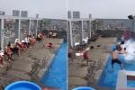 Clip: U23 Việt Nam nhảy nhót, thư giãn bên bể bơi cực hài hước