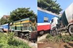Xe bồn đâm tàu hỏa, lái tàu nhập viện ở Bắc Giang