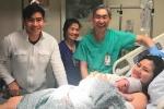 Diễn viên Ngọc Lan sinh con trai đầu lòng tại Mỹ