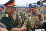 Ảnh: 63 chiến sĩ lên đường tham gia gìn giữ hòa bình Liên hợp quốc ở Nam Sudan