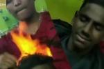 Video: Cắt tóc bằng lửa - phương pháp làm đẹp 'gây sốc' của người Ấn Độ
