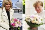 Thông điệp ẩn sau bó hoa ông Putin tặng Thủ tướng Đức và phu nhân Tổng thống Pháp