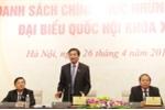 Công bố danh sách 870 người ứng cử đại biểu Quốc hội khóa XIV