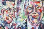 Họa sĩ Việt mong được tặng bức tranh chân dung cho 2 nhà lãnh đạo Mỹ - Triều tại Hà Nội