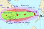 Tin mới nhất bão số 12: Bão mạnh lên và lệch dần về hướng Tây Tây Nam