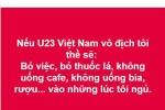 Chết cười với những lời thề 'siêu lầy' của dân mạng nếu U23 Việt Nam vô địch
