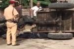 Thực hư CSGT truy đuổi khiến xe công nông lật, đè chết tài xế