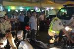 Bị truy đuổi, tài xế vi phạm tông vào xe CSGT bỏ trốn