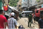 Xe khách nghi mất phanh gây tai nạn liên hoàn, 10 người bị thương ở Hải Phòng
