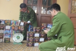 Thu giữ gần 1 tạ pháo hoa ở bãi đất trống khu biên giới Việt – Lào