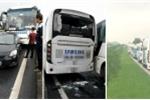 Ô tô chở công nhân Samsung gây tai nạn liên hoàn trên quốc lộ 3