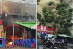 Clip: Cháy lớn quán bia lẩu gần hồ Linh Đàm, khói cuồn cuộn kín trời