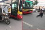 Lái xe ba gác lăn ra đường 'ăn vạ' xe buýt: Tài xế thương binh say rượu, đuổi đánh lái xe buýt