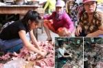 Thực hư thông tin cấm 2 người phụ nữ bị hắt dầu luyn trộn chất thải bán thịt lợn