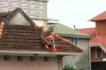 Clip: Nghẹt thở giải cứu bé trai 1 tuổi bị bố 'ngáo đá' khống chế đưa lên nóc nhà