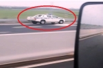 Kinh ngạc xe CSGT chạy ngược chiều trên cao tốc Hà Nội - Hải Phòng