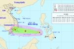 Áp thấp nhiệt đới giật cấp 9 đã vào Biển Đông