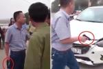 Tài xế ô tô rút súng dọa bắn người sau va chạm giao thông
