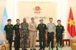 Thượng tướng Võ Văn Tuấn tiếp đoàn Huấn luyện lưu động Liên hợp quốc