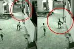 Clip: Rơi từ tầng 3 tòa nhà, cậu bé thoát chết nhờ điều trùng hợp khó tin