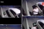 Clip: Nữ tài xế lái xe sang đi trộm cây cảnh trong đêm