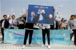 Ảnh: Người dân đổ ra đường trước hội nghị thượng đỉnh liên Triều