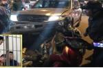 Tạm giữ tài xế say rượu tông hàng loạt phương tiện trên phố Hà Nội