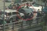 Clip: Ô tô quay đầu trên cầu vượt Tây Sơn giờ tan tầm, cầu kẹt cứng