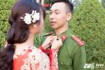 Ảnh cưới lãng mạn của chàng cảnh sát trẻ đa tài